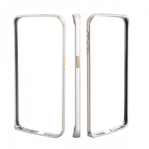 Metal Aluminum Alloy Ultra Thin Border Frame Bumper Case for Samsung Galaxy S6 - Silver
