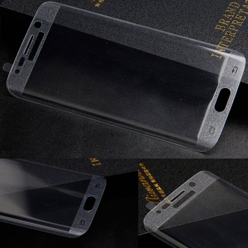 Full Cover Curved Tempered Glass Screen Protector for Samsung Galaxy S6 Edge - Transparent