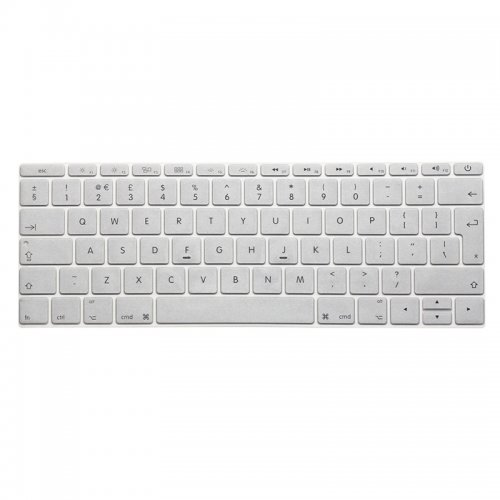 EU Silicone Keyboard Skin Cover For Apple Macbook Pro Air Mac Retina 12 inch - Silver