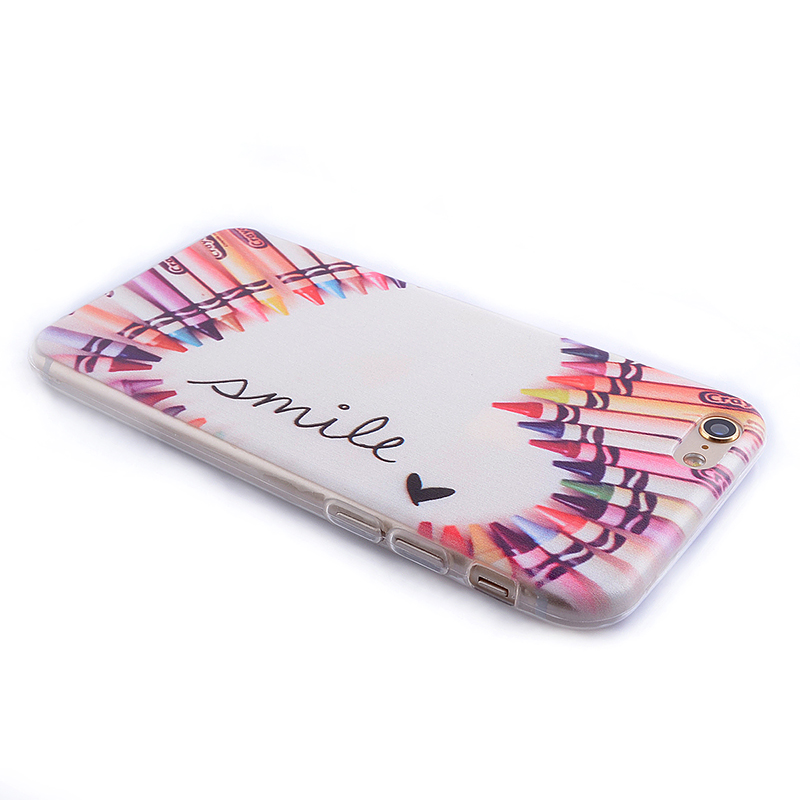 TPU Slim Thin Soft Case Back Cover Skin Shell for iPhone 6 4.7 - Color Pens