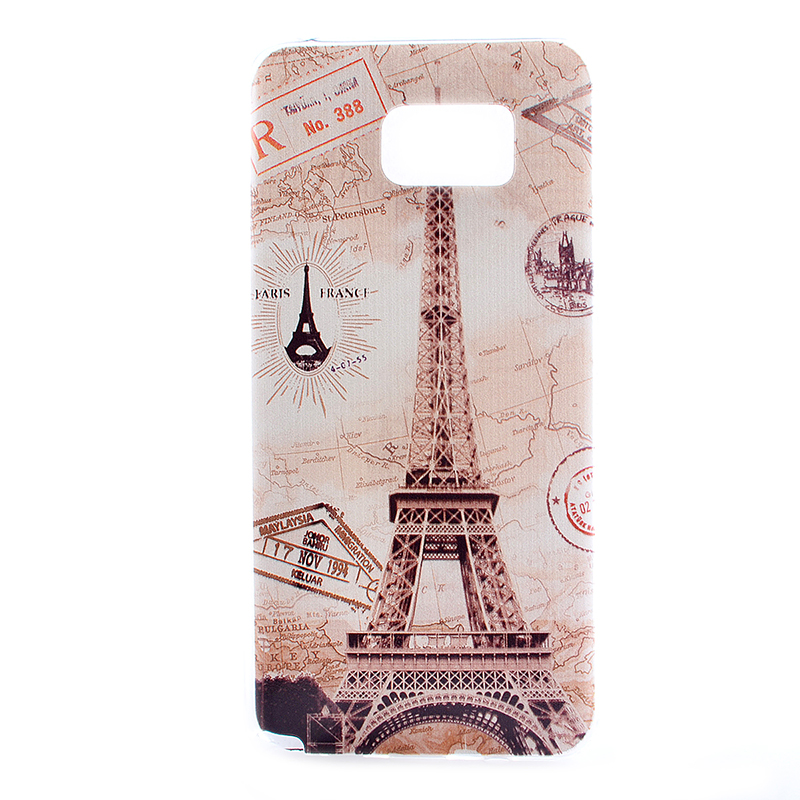 TPU Slim Thin Soft Case Back Cover Skin Shell for Samsung Note 5 - Eiffel Tower