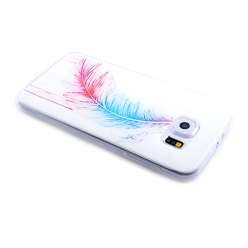 TPU Slim Thin Soft Case Back Cover Skin Shell for Samsung S6 - Feather