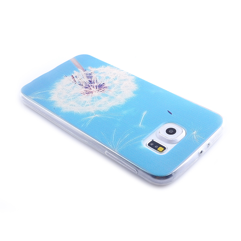 TPU Slim Thin Soft Case Back Cover Skin Shell for Samsung S6 - Dandelion