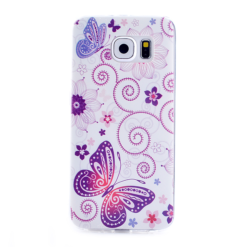 TPU Slim Thin Soft Case Back Cover Skin Shell for Samsung S6 - Butterfly