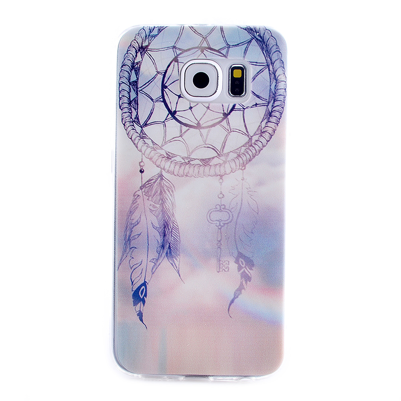TPU Slim Thin Soft Case Back Cover Skin Shell for Samsung S6 - Dream Catcher