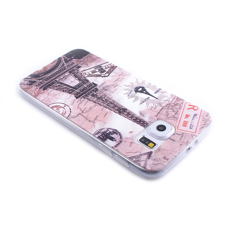 TPU Slim Thin Soft Case Back Cover Skin Shell for Samsung S6 - Eiffel Tower