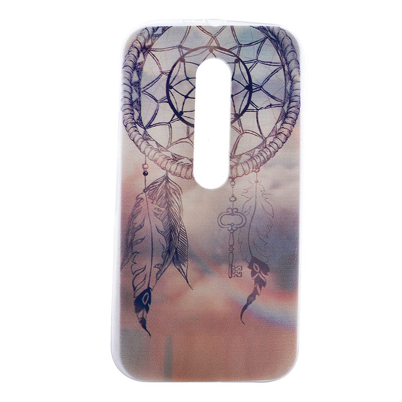TPU Slim Thin Soft Case Back Cover Skin Shell for Moto G3 - Dream Catcher