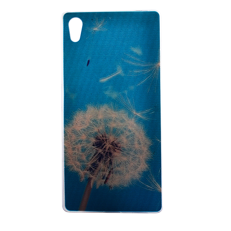 TPU Slim Thin Soft Case Back Cover Skin Shell for Sony Z5 - Dandelion