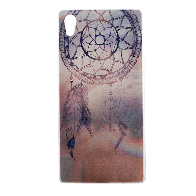 TPU Slim Thin Soft Case Back Cover Skin Shell for Sony Z5 - Dream Catcher
