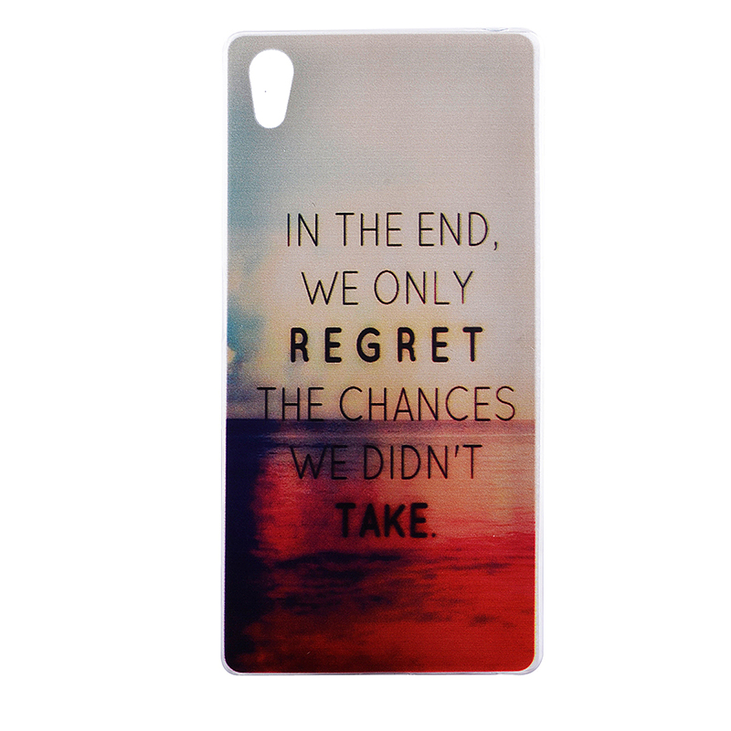 TPU Slim Thin Soft Case Back Cover Skin Shell for Sony Z5 - Regrets