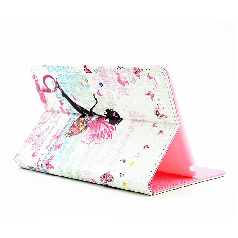 Bling Crystal Magnetic Flip Stand Leather Case Cover Shell for iPad Mini 4 - Fairy
