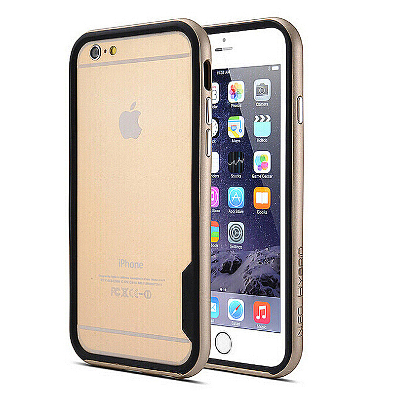 TPU + PC Bumper Frame Border Case for iPhone 6 Plus 5.5 - Gold