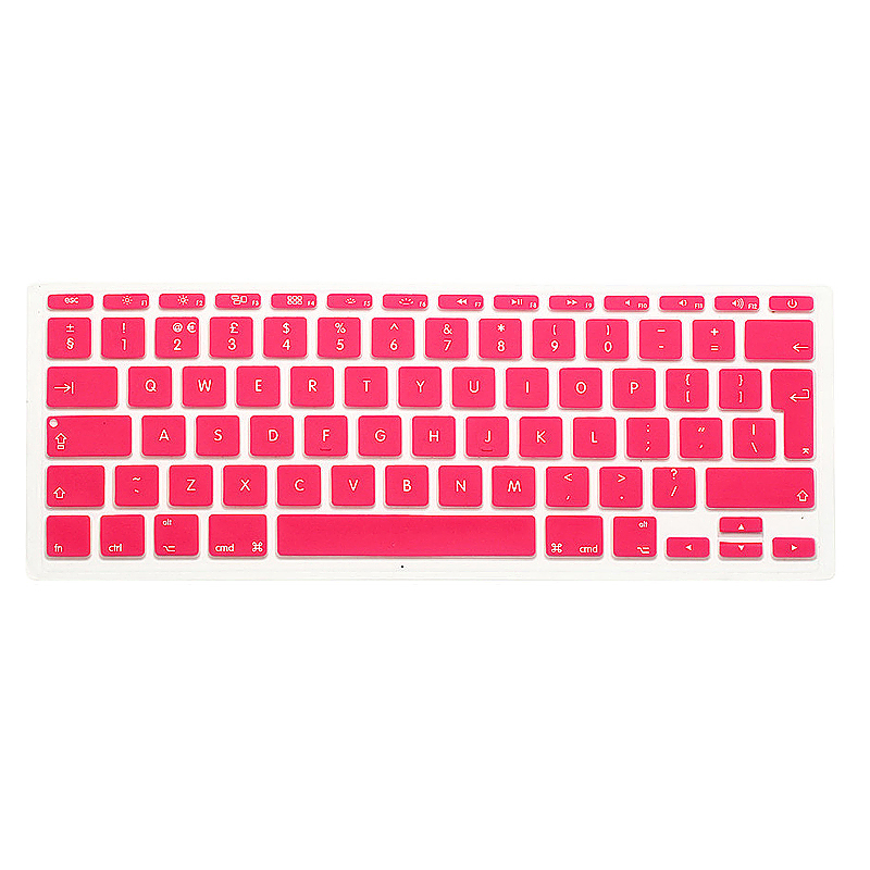 EU Silicone Keyboard Skin Cover For Apple Macbook Pro Air Mac Retina 11 inch - Pink