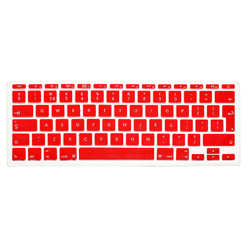 EU Silicone Keyboard Skin Cover For Apple Macbook Pro Air Mac Retina 11 inch - Red