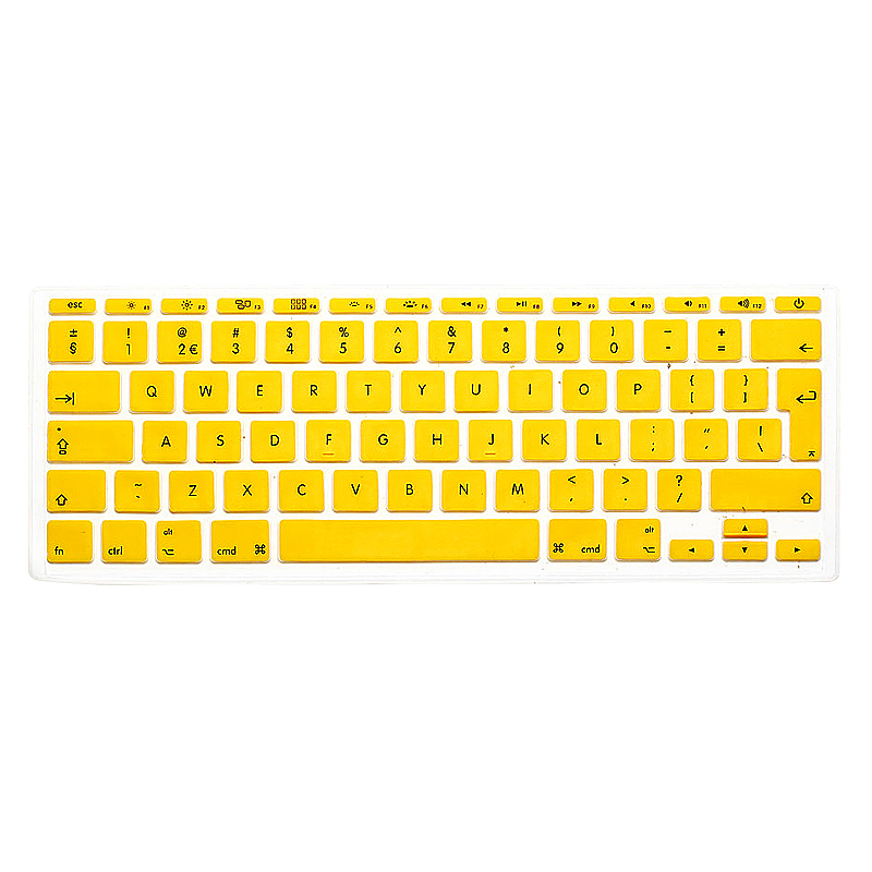 EU Silicone Keyboard Skin Cover For Apple Macbook Pro Air Mac Retina 11 inch - Yellow