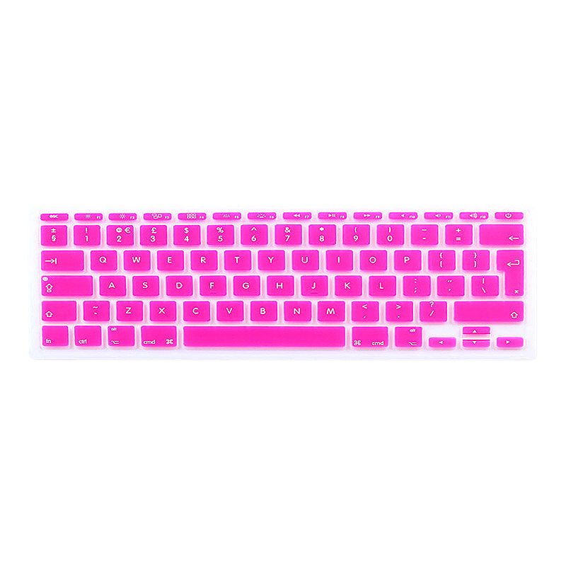 EU Silicone Keyboard Skin Cover For Apple Macbook Pro Air Mac Retina 11 inch - Rose Red