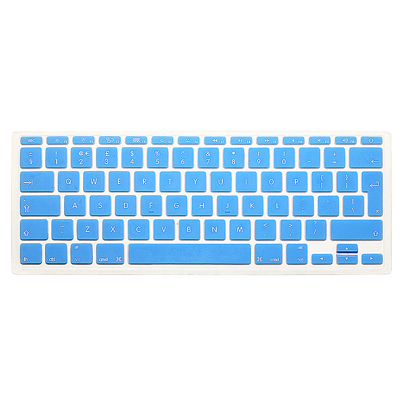 EU Silicone Keyboard Skin Cover For Apple Macbook Pro Air Mac Retina 11 inch - Light Blue