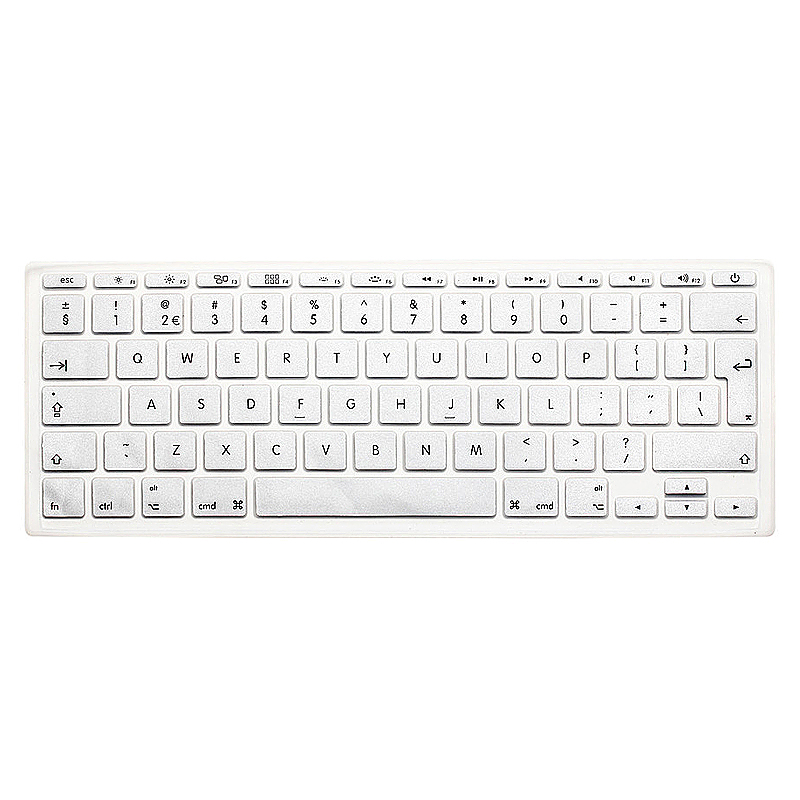 EU Silicone Keyboard Skin Cover For Apple Macbook Pro Air Mac Retina 11 inch - Silver