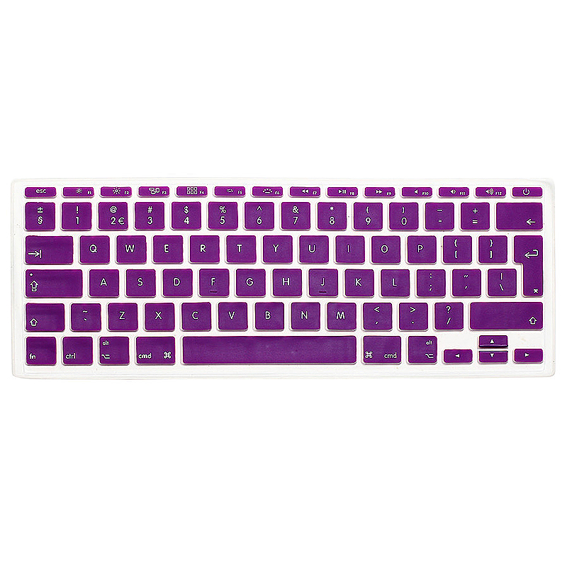 EU Silicone Keyboard Skin Cover For Apple Macbook Pro Air Mac Retina 11 inch - Purple