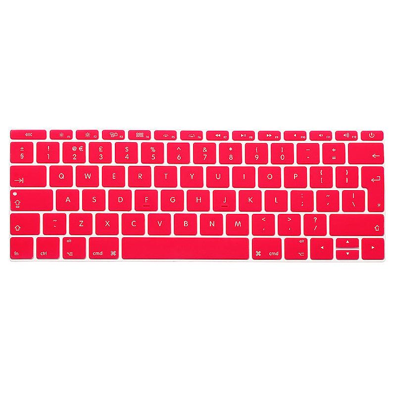 EU Silicone Keyboard Skin Cover For Apple Macbook Pro Air Mac Retina 13 inch - Pink