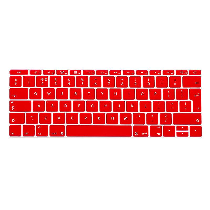 EU Silicone Keyboard Skin Cover For Apple Macbook Pro Air Mac Retina 13 inch - Red