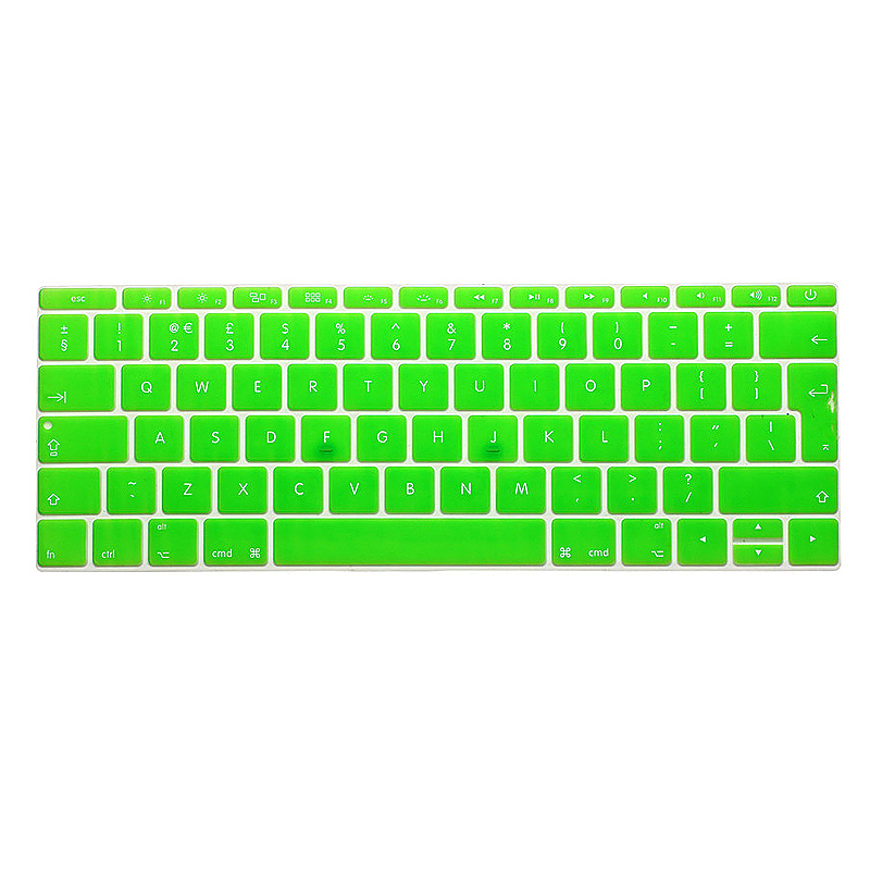 EU Silicone Keyboard Skin Cover For Apple Macbook Pro Air Mac Retina 13 inch - Green