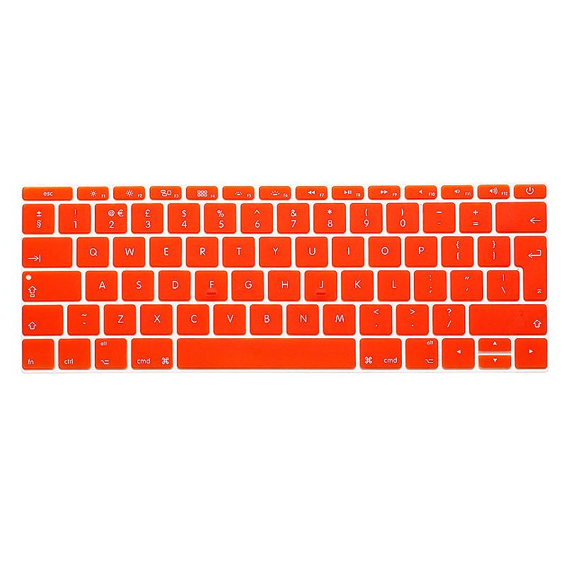 EU Silicone Keyboard Skin Cover For Apple Macbook Pro Air Mac Retina 12 inch - Orange