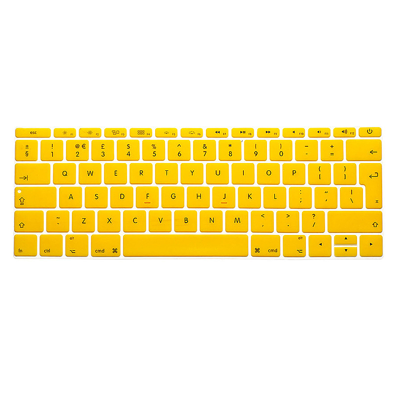 EU Silicone Keyboard Skin Cover For Apple Macbook Pro Air Mac Retina 12 inch - Yellow