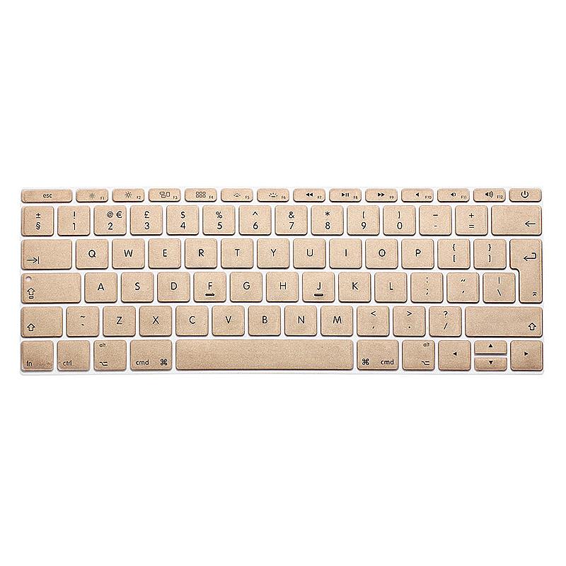 EU Silicone Keyboard Skin Cover For Apple Macbook Pro Air Mac Retina 12 inch - Gold