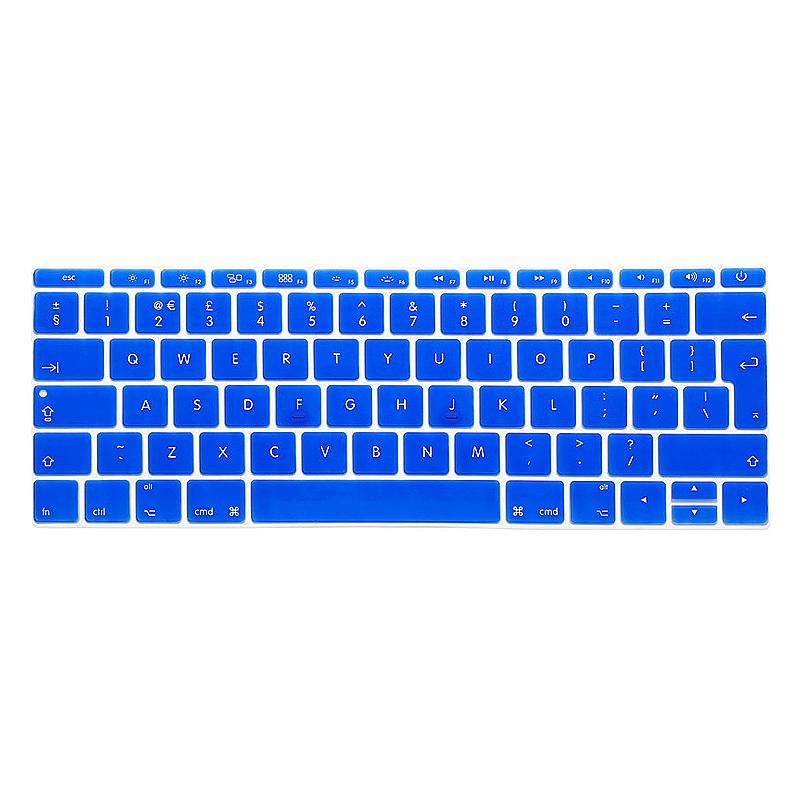 EU Silicone Keyboard Skin Cover For Apple Macbook Pro Air Mac Retina 12 inch - Blue