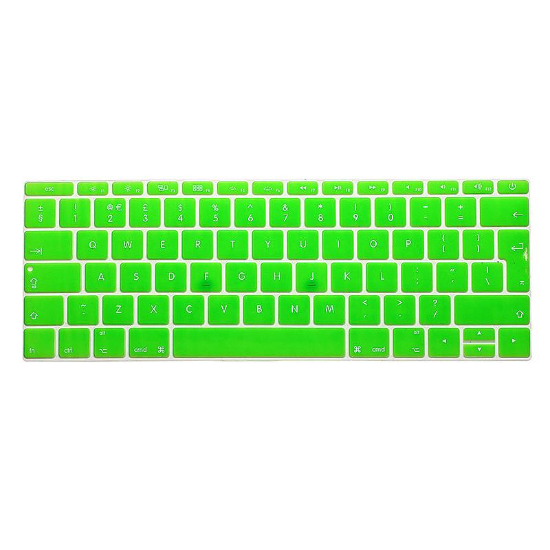 EU Silicone Keyboard Skin Cover For Apple Macbook Pro Air Mac Retina 12 inch - Green