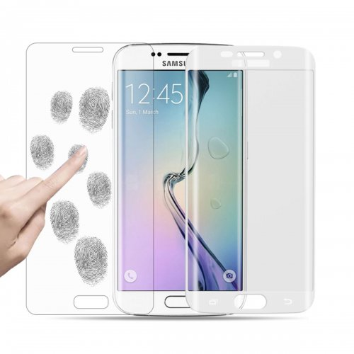 3D Curved 0.24mm Tempered Glass Screen Guard for Samsung S6 Edge Plus - White