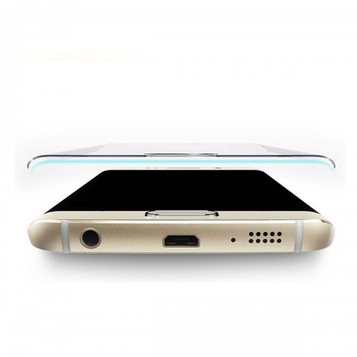 3D Curved 0.24mm Tempered Glass Screen Guard for Samsung S6 Edge Plus - Gold