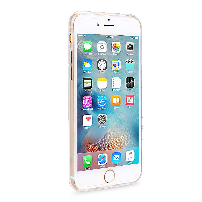 Slim Soft Rubber TPU Back Case Skin for Apple iPhone 6 4.7 - White Tape