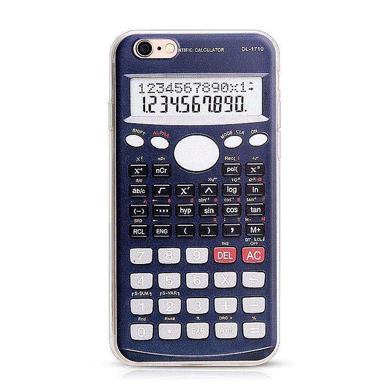 Slim Soft Rubber TPU Back Case Skin for Apple iPhone 6 4.7 - Calculator