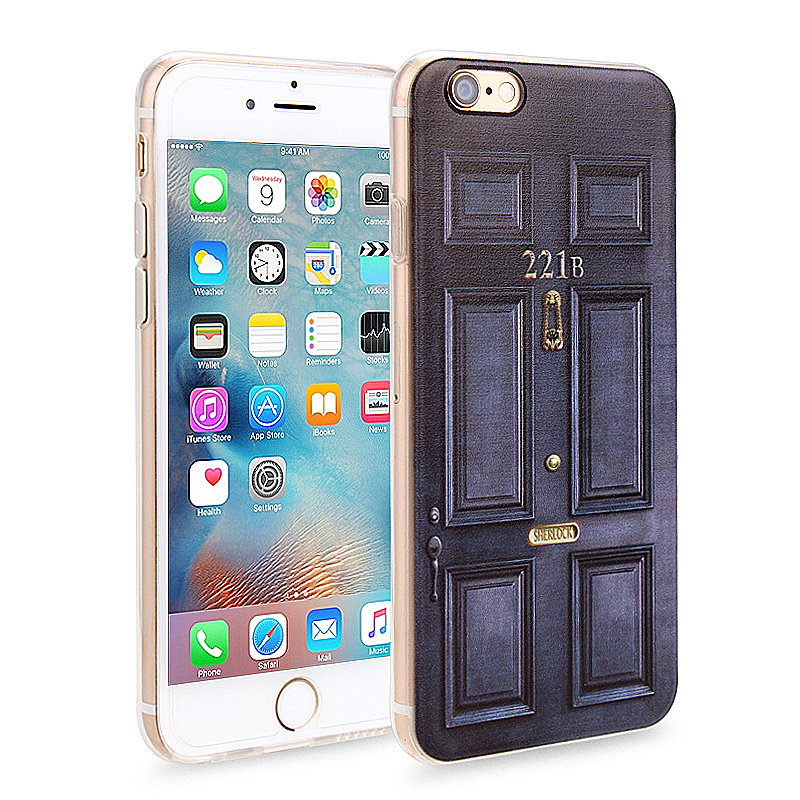Slim Soft Rubber TPU Back Case Skin for Apple iPhone 6 4.7 - 221B Door