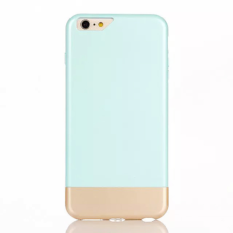 Two Duo Parts Back Case for iPhone 6 Plus 6S Plus - Blue