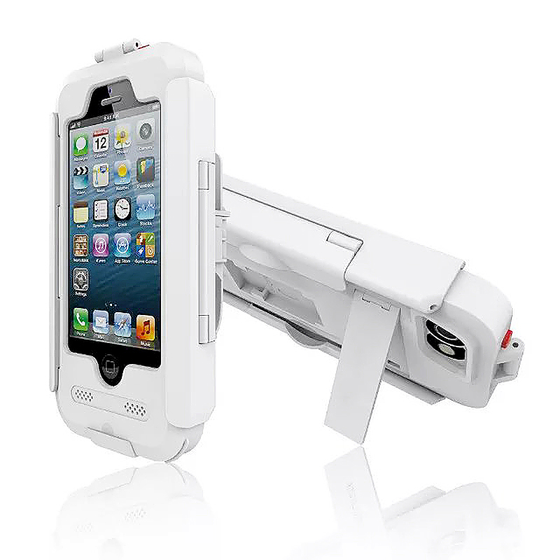 Waterproof ShockProof Asorb Bike Bicycle Phone Case Mount Holder for iPhone 6 6S - White