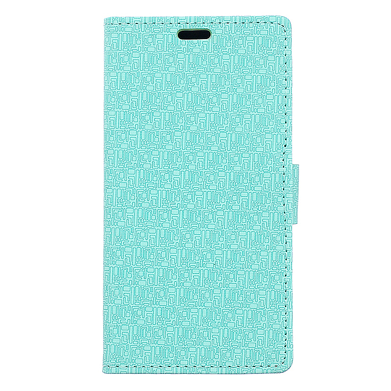Maze Pattern Leather Case Magnetic Flip Cover for Sony Z5 Plus - Green