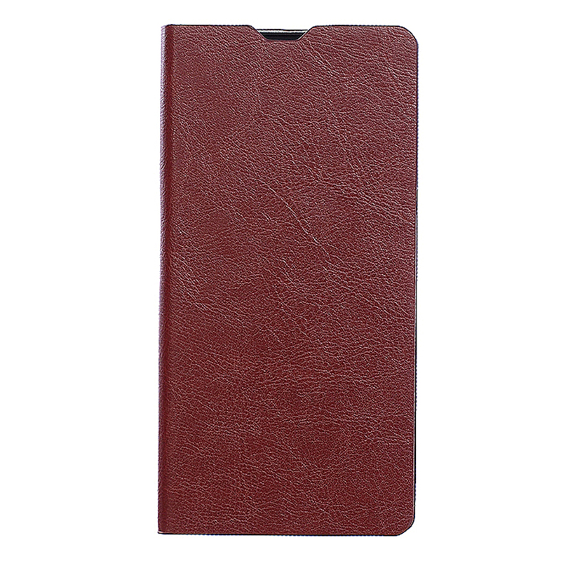 Concise Design Leather Case Magnetic Flip Cover for Sony Z5 Plus - Brown