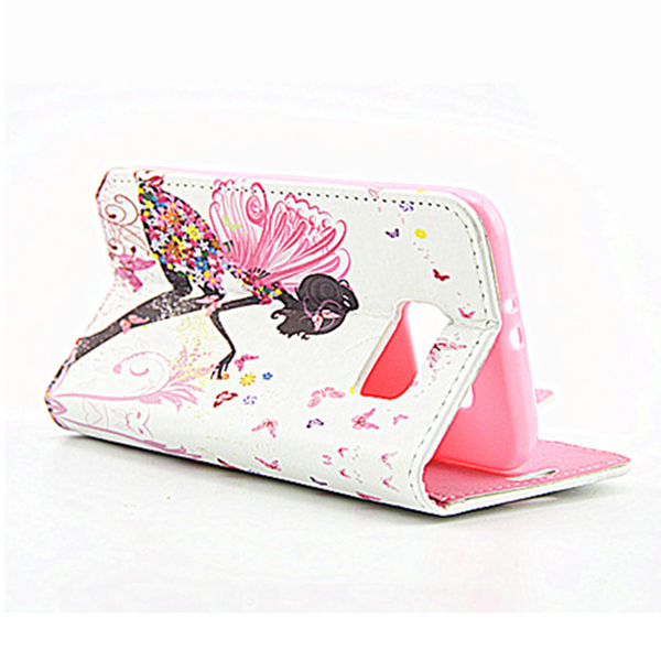 Butterfly & Fairy Magnetic Stand Flip Case for Samsung S6 - Sitting