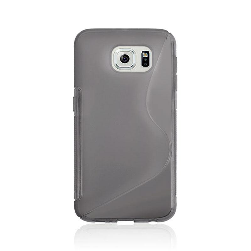 S Shape Wave TPU Soft Case for Samsung Galaxy S6 - Grey
