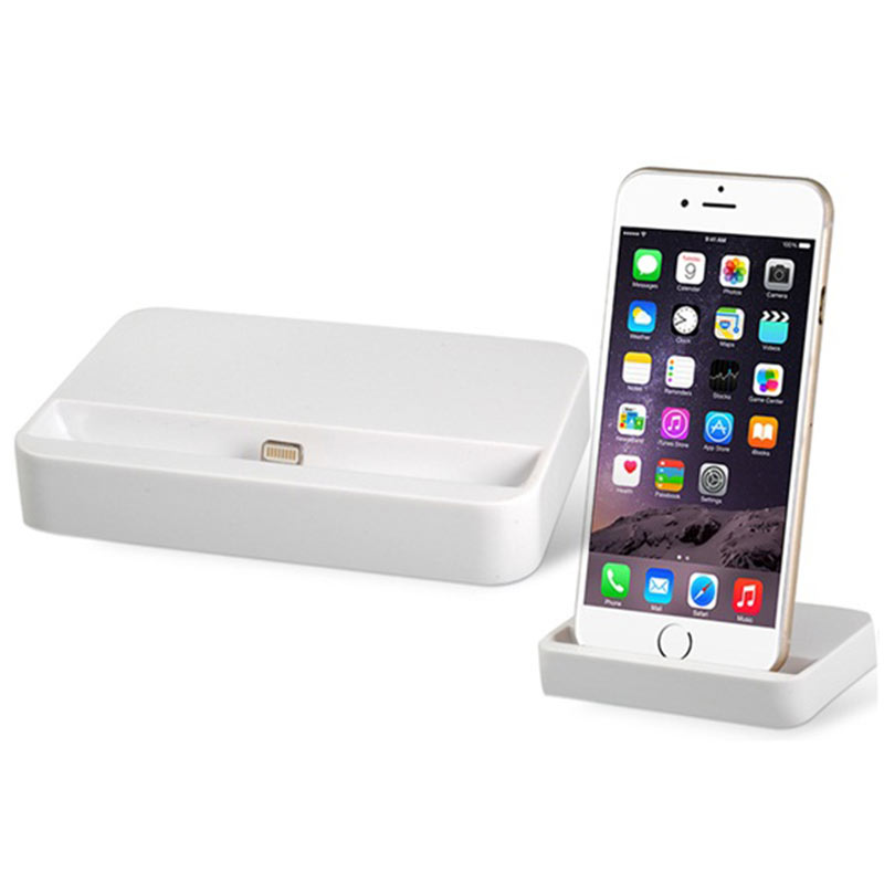 Dock Cradle Charger Station Stand Holder for iPhone 6/ 6 Plus - White