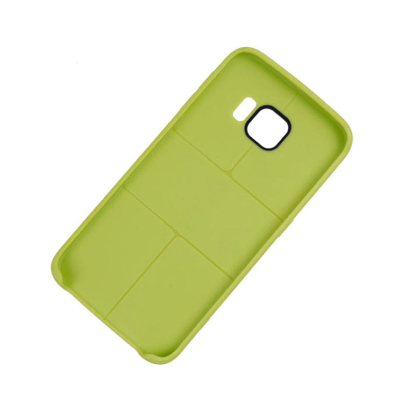 Middle Line Design TPU Case for Samsung Galaxy S6 Edge - Green