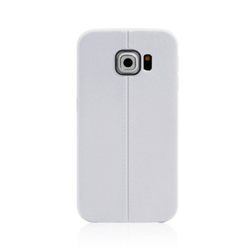 Middle Line Design TPU Case for Samsung Galaxy S6 Edge - White