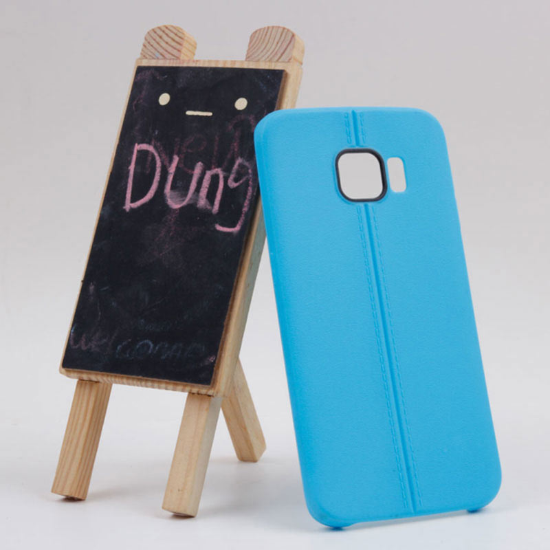 Middle Line Design TPU Case for Samsung Galaxy S6 Edge - Blue