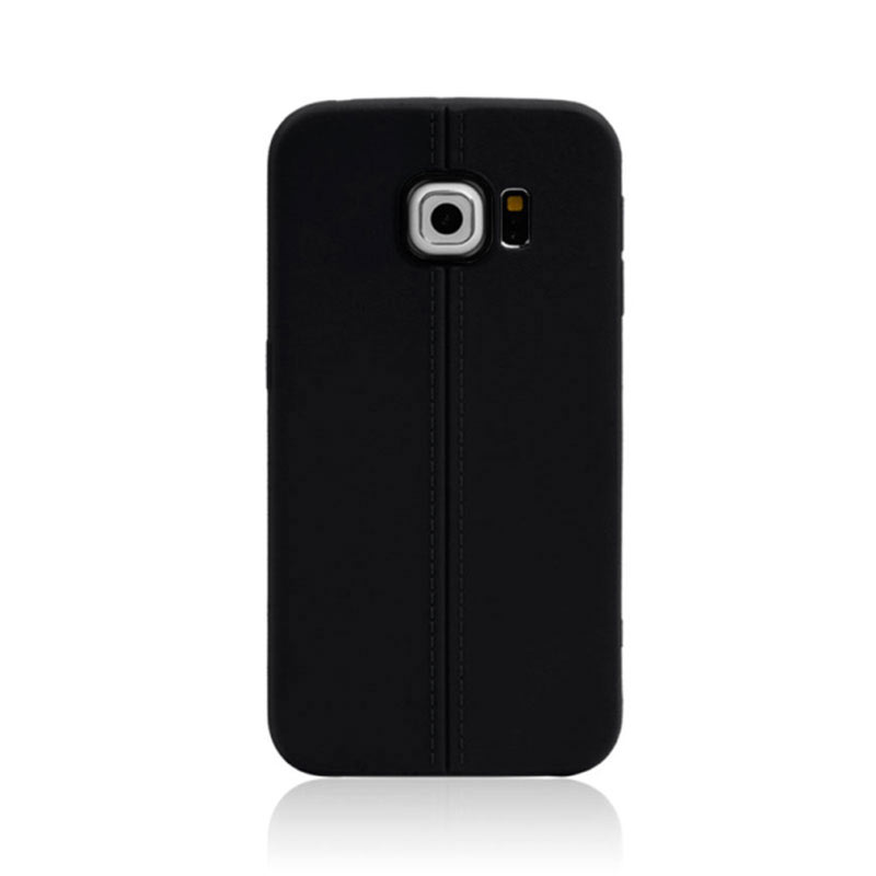 Middle Line Design TPU Case for Samsung Galaxy S6 Edge - Black