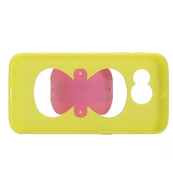 Bowknot Stand Hold Case for Samsung S6 - Yellow