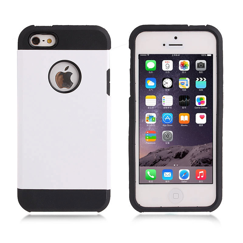 2-in-1 Armour Case Skin for iPhone 6 4.7 - White