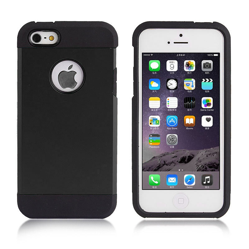 2-in-1 Armour Case Skin for iPhone 6 4.7 - Black